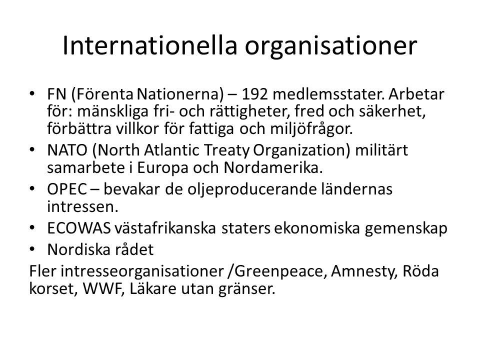 Internationella organisationer