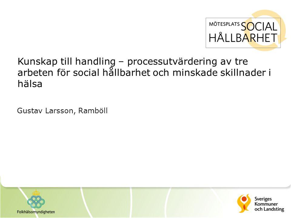Kunskap till handling – processutvärdering av tre arbeten för social hållbarhet och minskade skillnader i hälsa