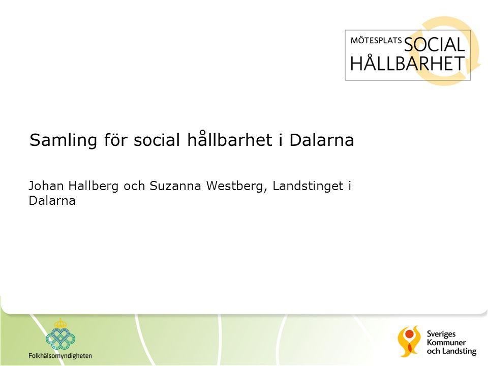Samling för social hållbarhet i Dalarna