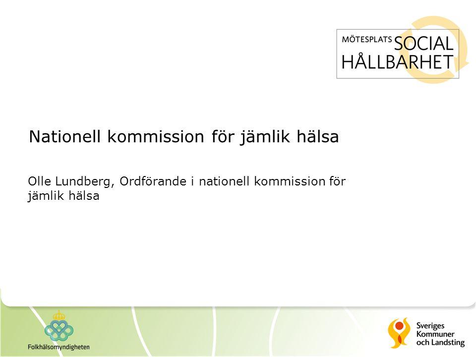Nationell kommission för jämlik hälsa