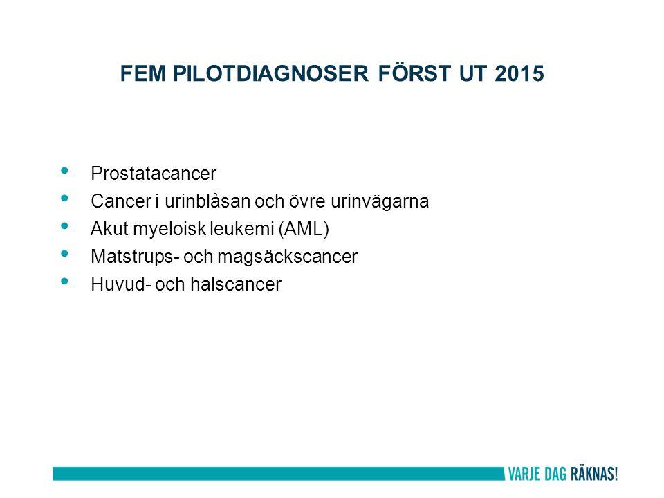 Fem pilotdiagnoser först ut 2015