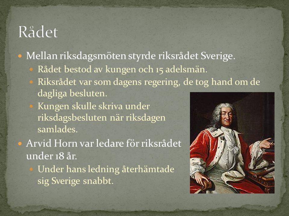 Rådet Mellan riksdagsmöten styrde riksrådet Sverige.