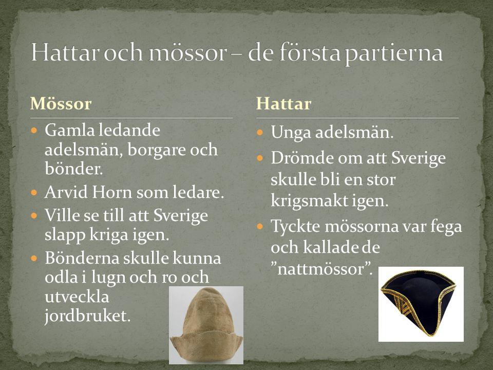 Hattar och mössor – de första partierna