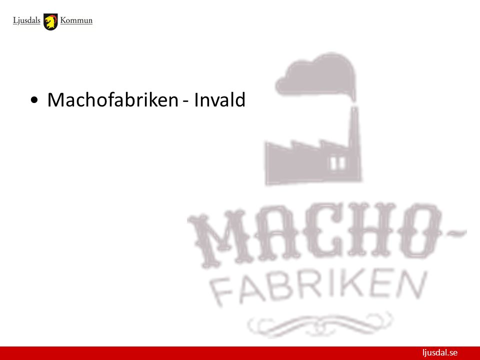 Machofabriken - Invald