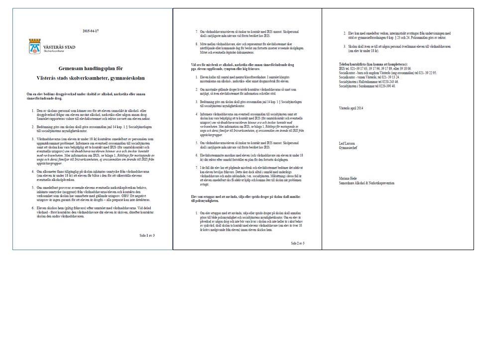 FBC: Exempel på handlingsplan som de kommunala skolorna har.