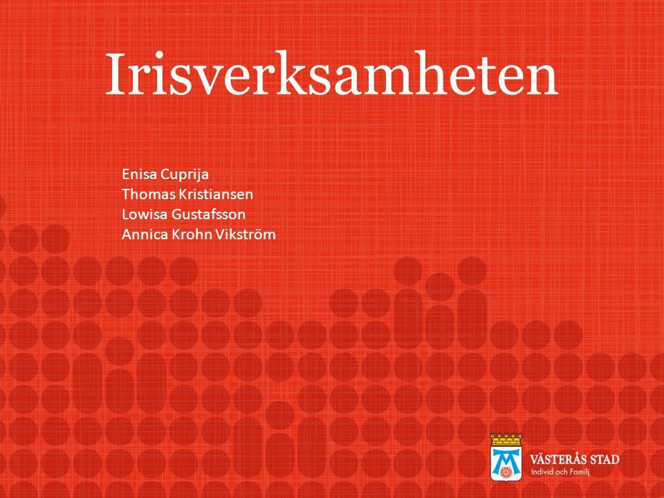 Irisverksamheten Enisa Cuprija Thomas Kristiansen Lowisa Gustafsson