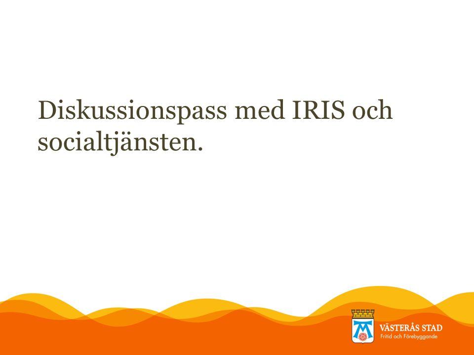 Diskussionspass med IRIS och socialtjänsten.