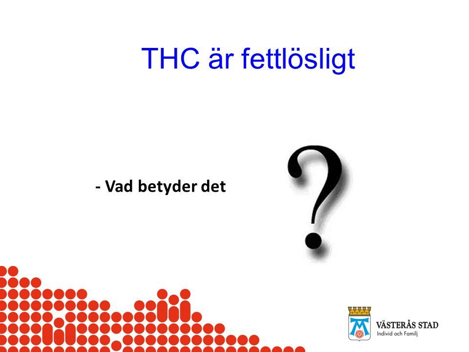 THC är fettlösligt - Vad betyder det IRIS