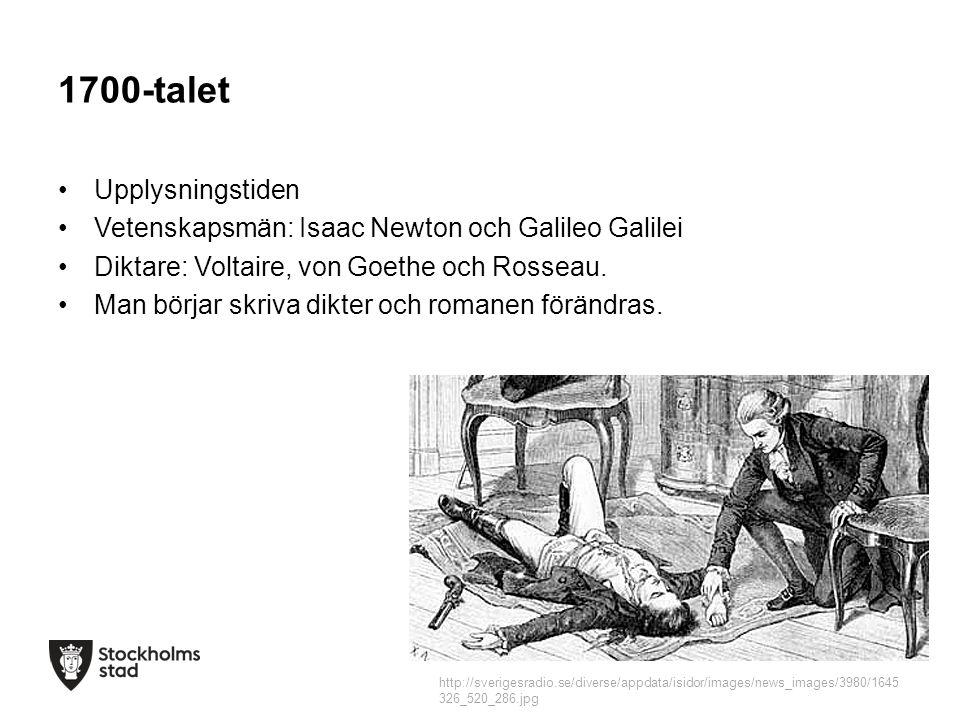 1700-talet Upplysningstiden