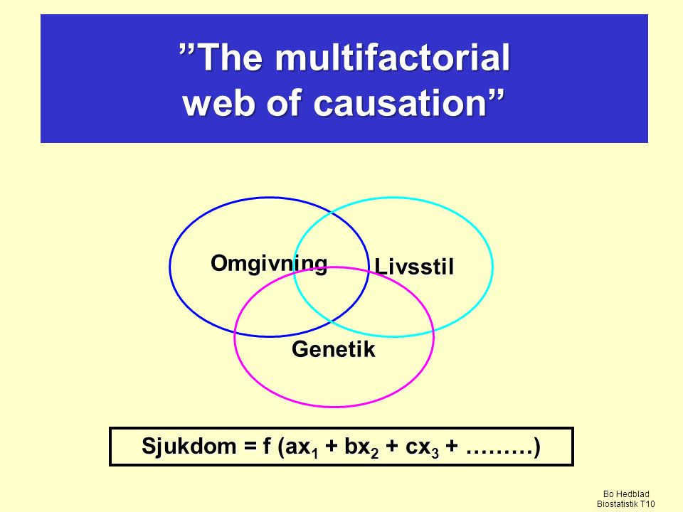 The multifactorial web of causation