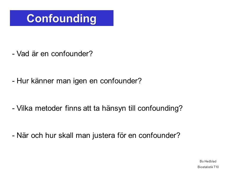 Confounding - Vad är en confounder