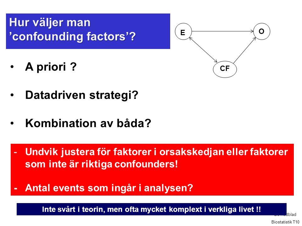 Hur väljer man 'confounding factors'