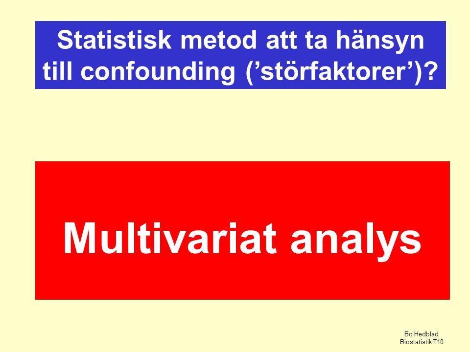 Statistisk metod att ta hänsyn till confounding ('störfaktorer')