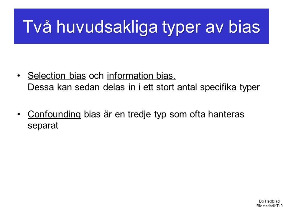 Två huvudsakliga typer av bias