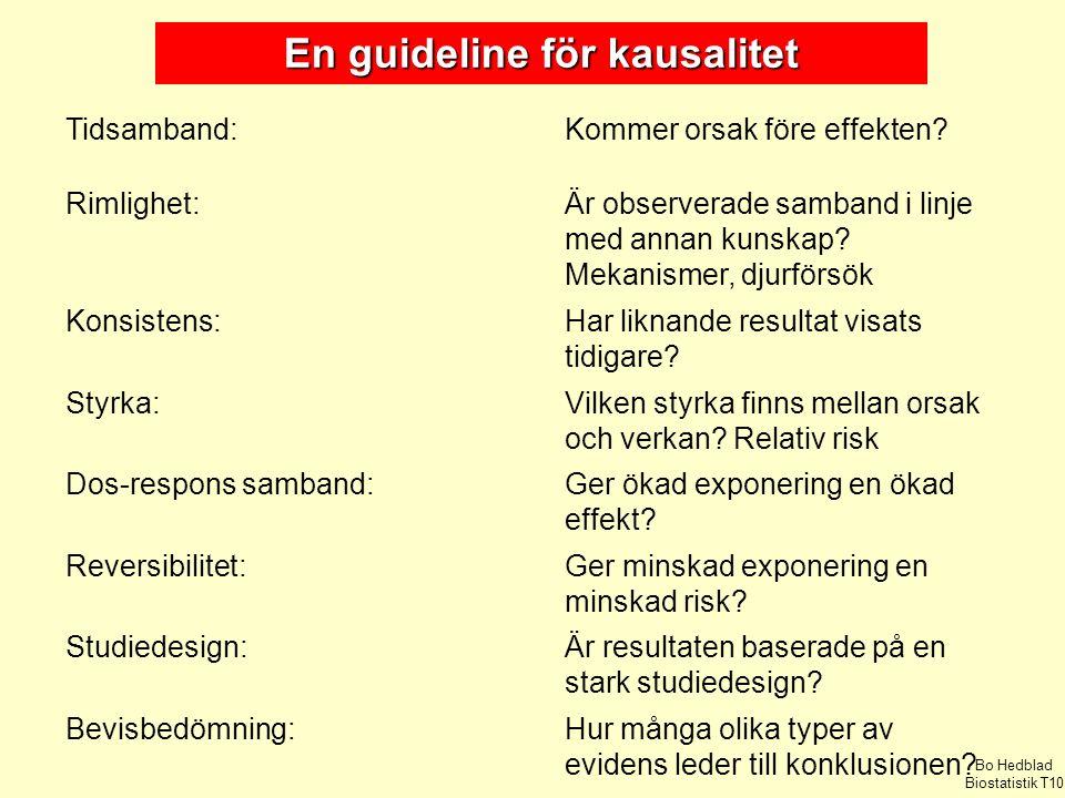 En guideline för kausalitet