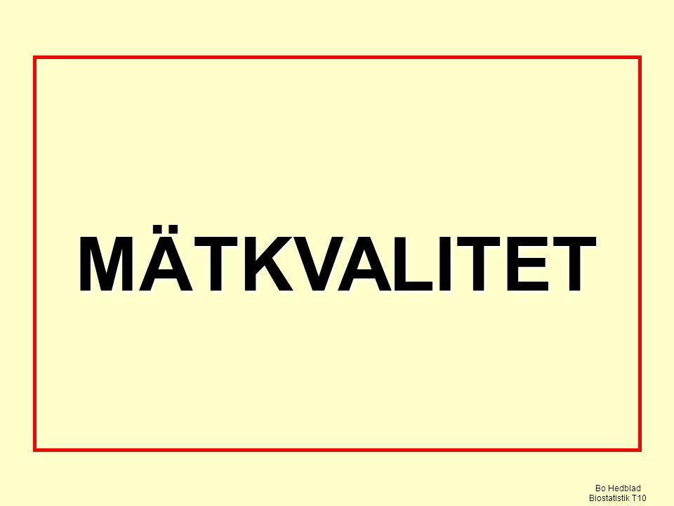 MÄTKVALITET Bo Hedblad Biostatistik T10