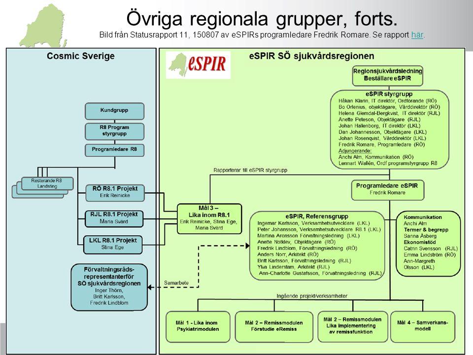 Övriga regionala grupper, forts