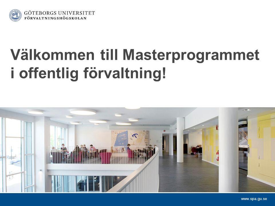 Välkommen till Masterprogrammet i offentlig förvaltning!