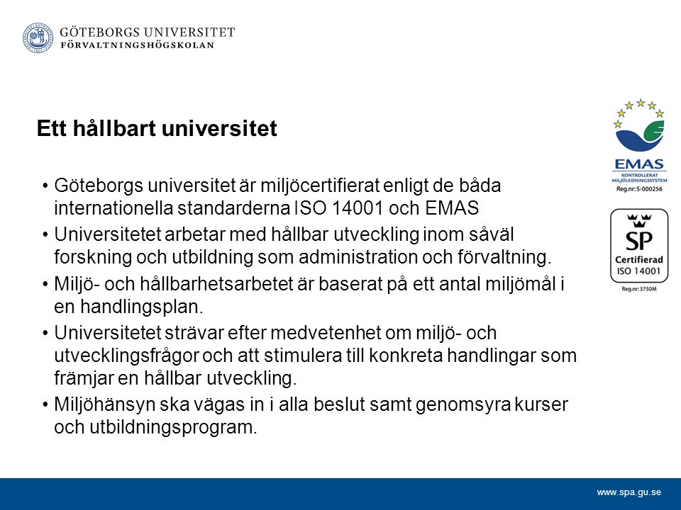 Ett hållbart universitet
