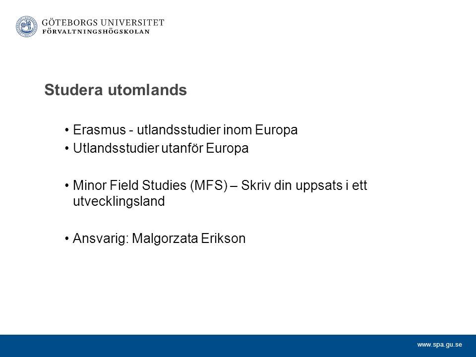 Studera utomlands Erasmus - utlandsstudier inom Europa