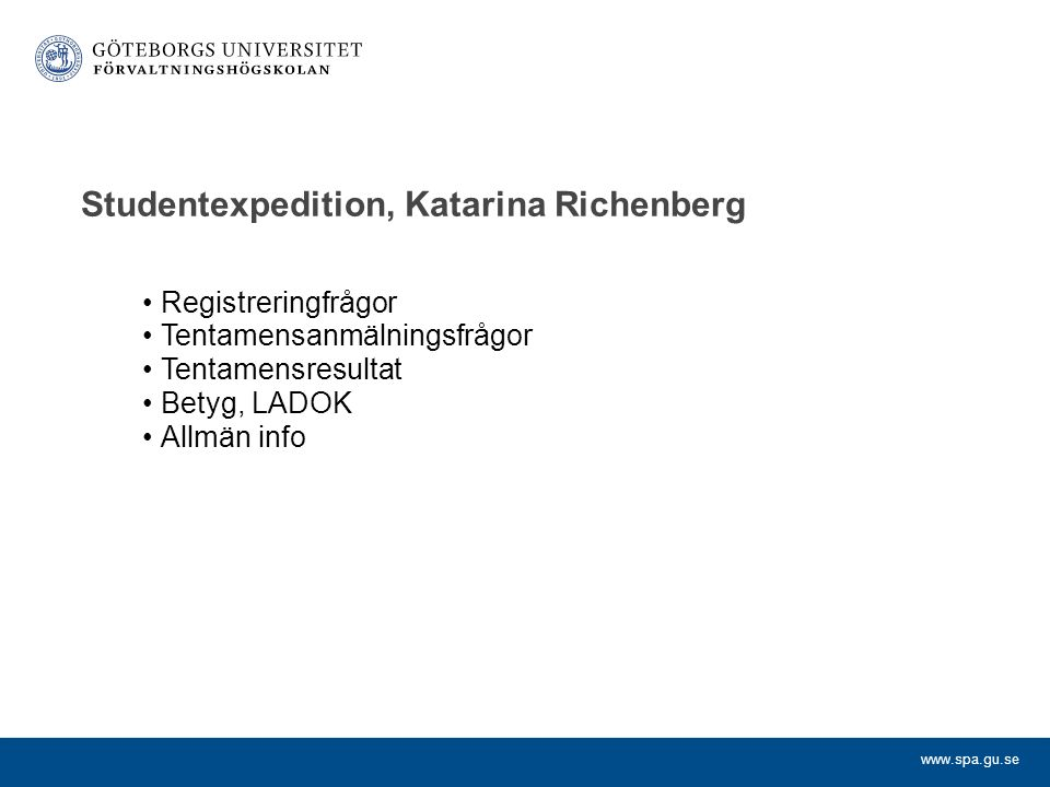 Studentexpedition, Katarina Richenberg