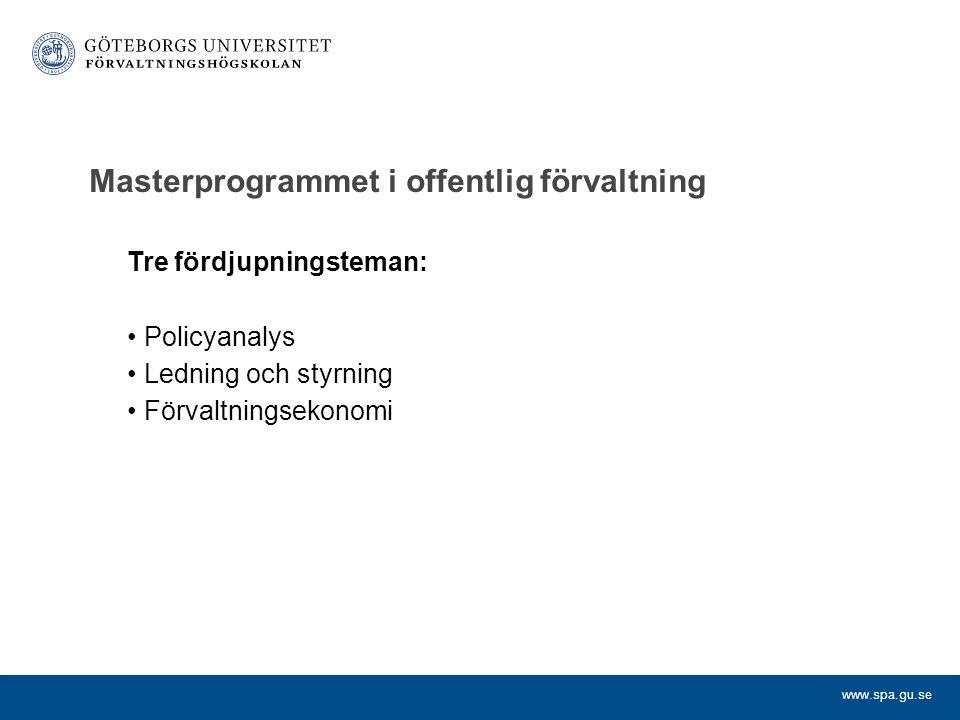 Masterprogrammet i offentlig förvaltning