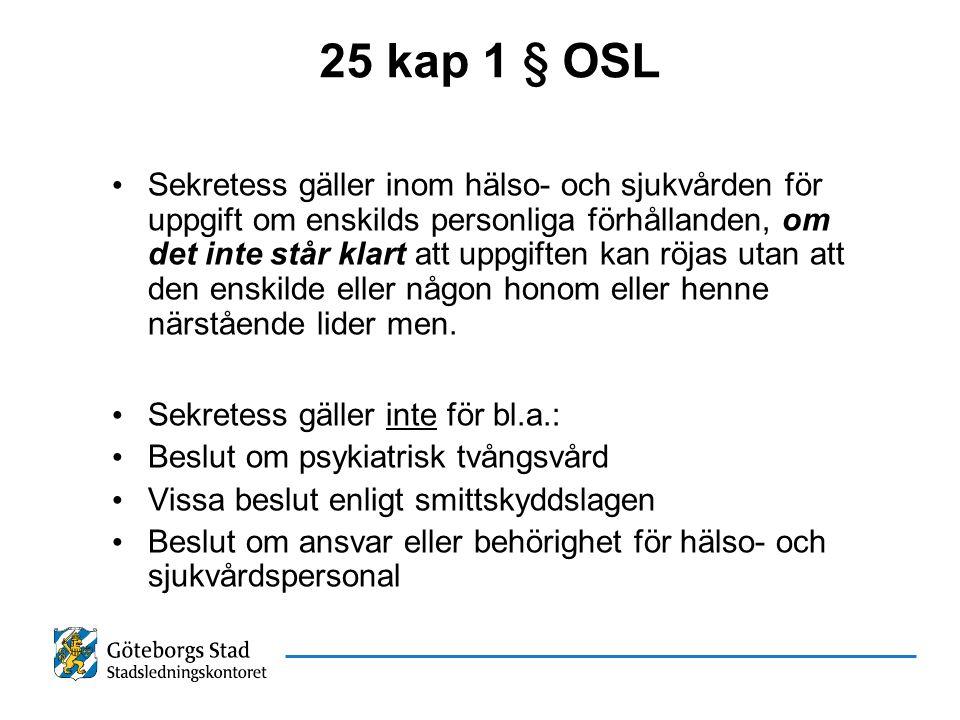 25 kap 1 § OSL