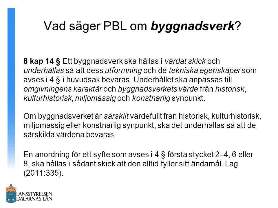 Vad säger PBL om byggnadsverk