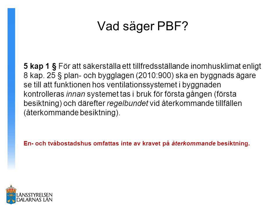 Vad säger PBF