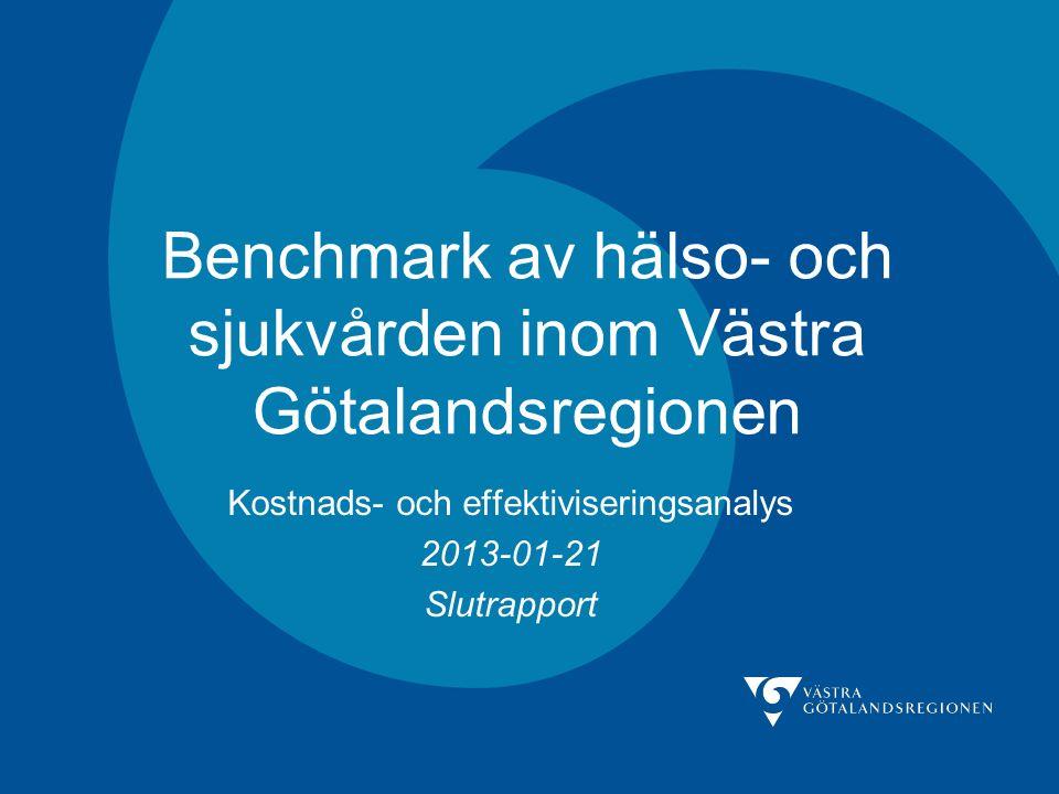 Benchmark av hälso- och sjukvården inom Västra Götalandsregionen