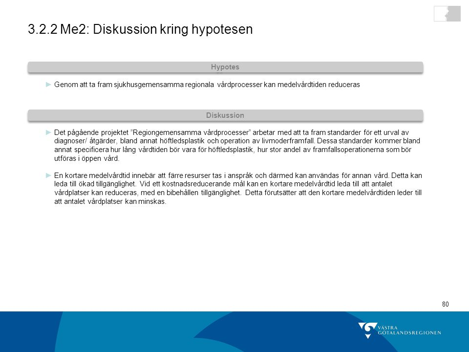 3.2.2 Me2: Diskussion kring hypotesen