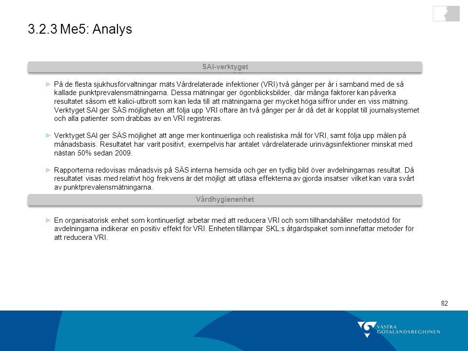 3.2.3 Me5: Analys SAI-verktyget