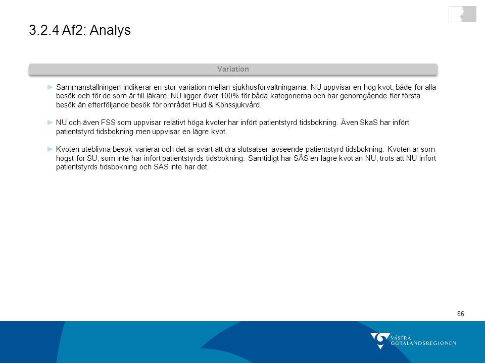 3.2.4 Af2: Analys Variation.