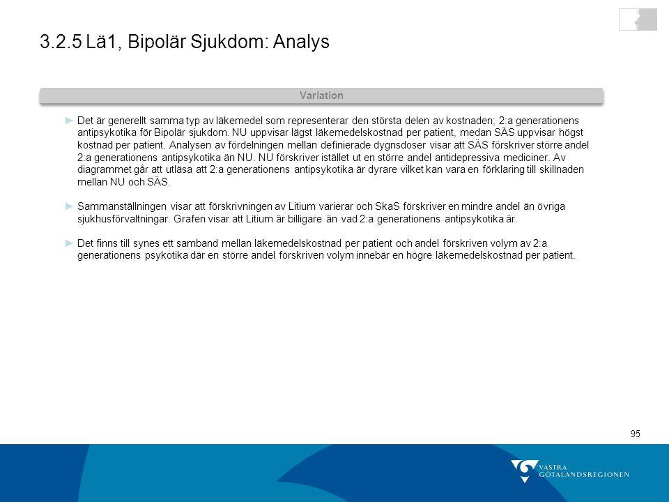 3.2.5 Lä1, Bipolär Sjukdom: Analys