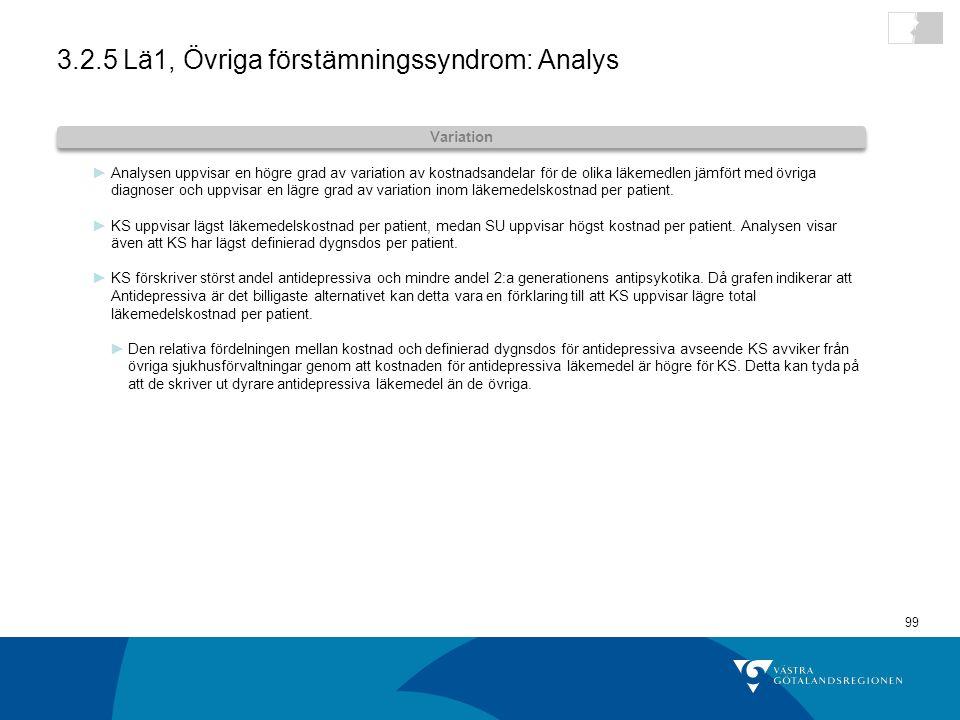 3.2.5 Lä1, Övriga förstämningssyndrom: Analys