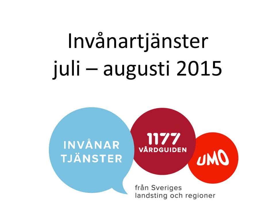 Invånartjänster juli – augusti 2015
