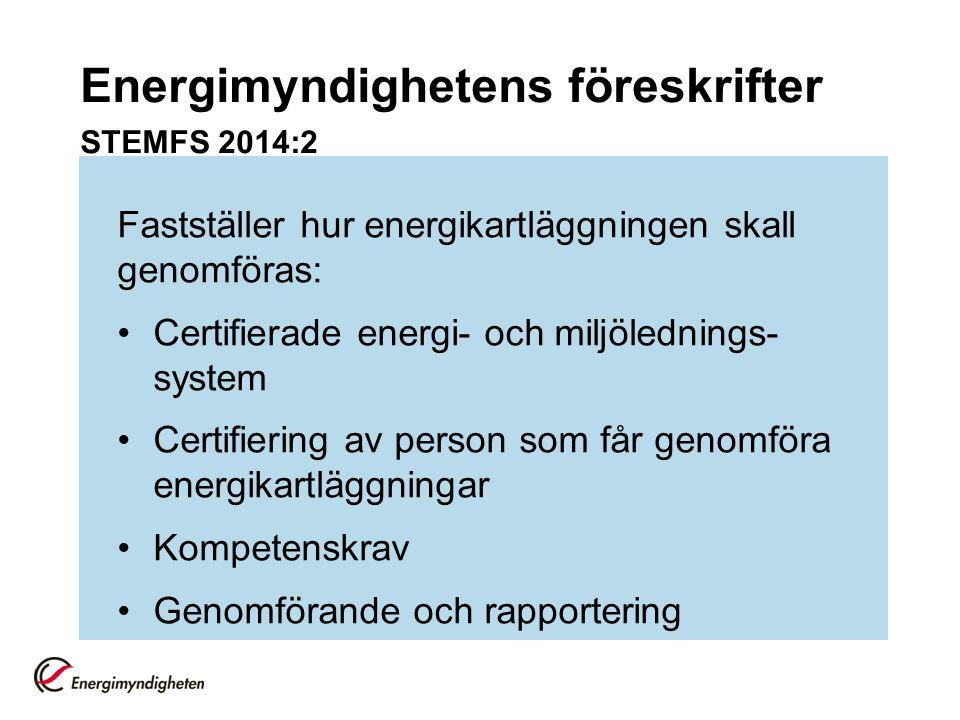Energimyndighetens föreskrifter STEMFS 2014:2