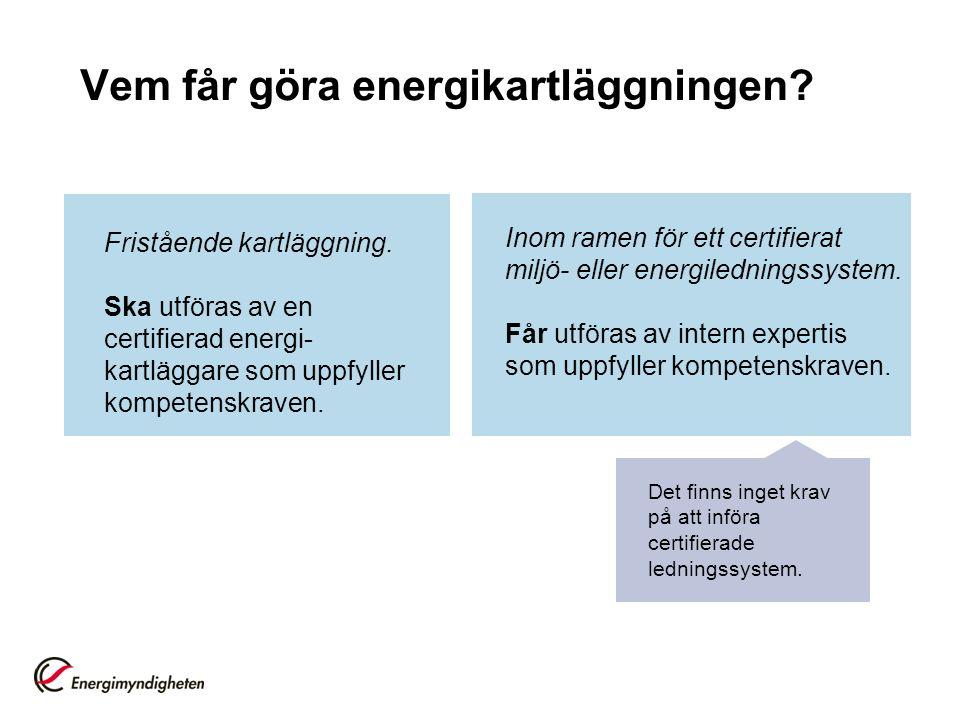 Vem får göra energikartläggningen