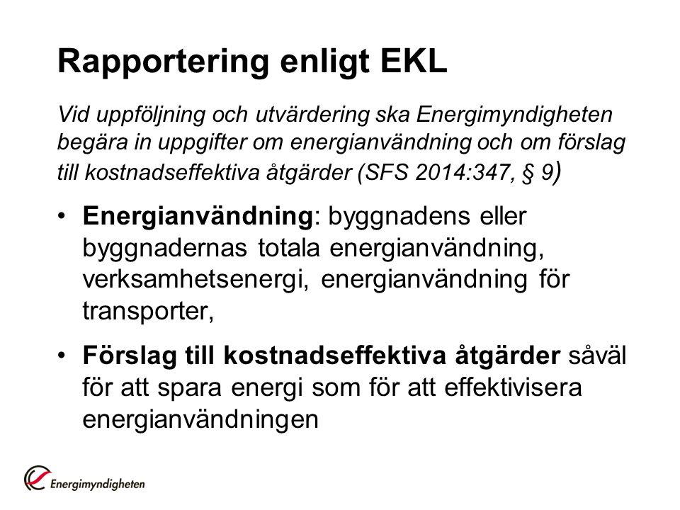 Rapportering enligt EKL