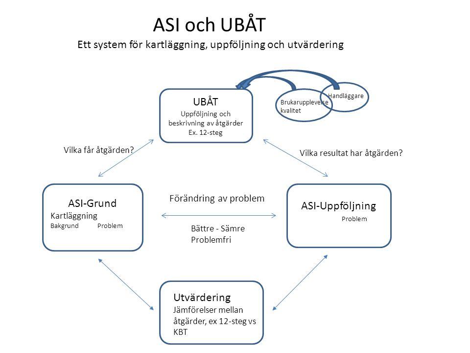 ASI och UBÅT Ett system för kartläggning, uppföljning och utvärdering