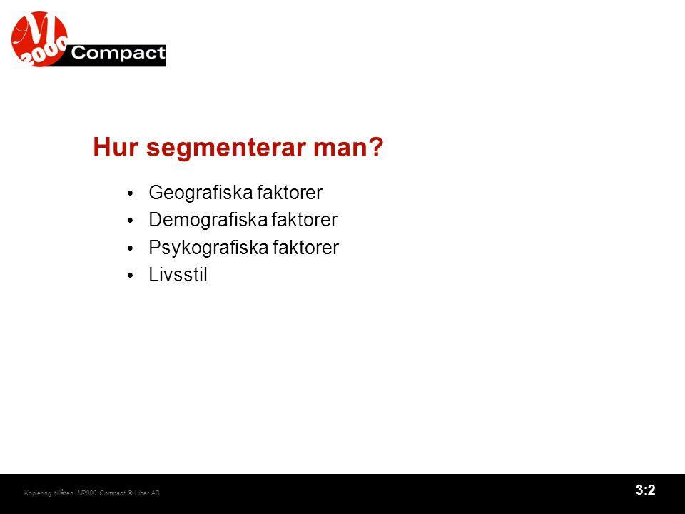 Hur segmenterar man Geografiska faktorer Demografiska faktorer