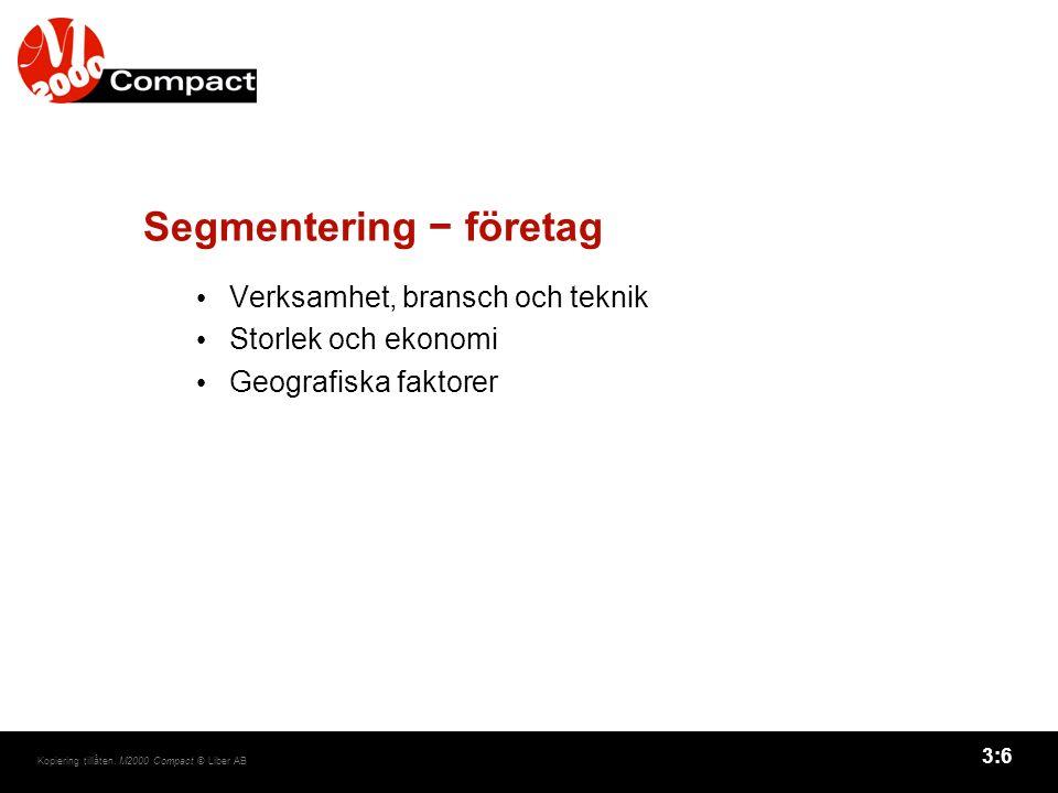 Segmentering − företag