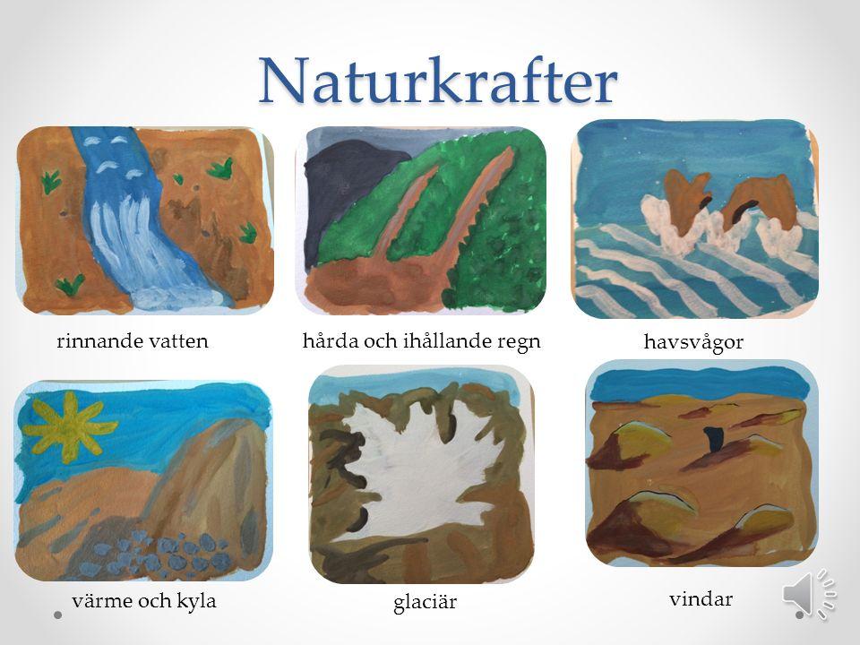 Naturkrafter rinnande vatten hårda och ihållande regn havsvågor