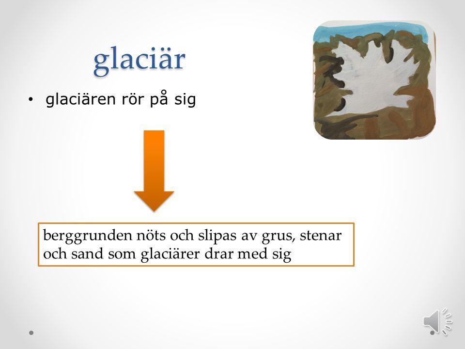 glaciär glaciären rör på sig