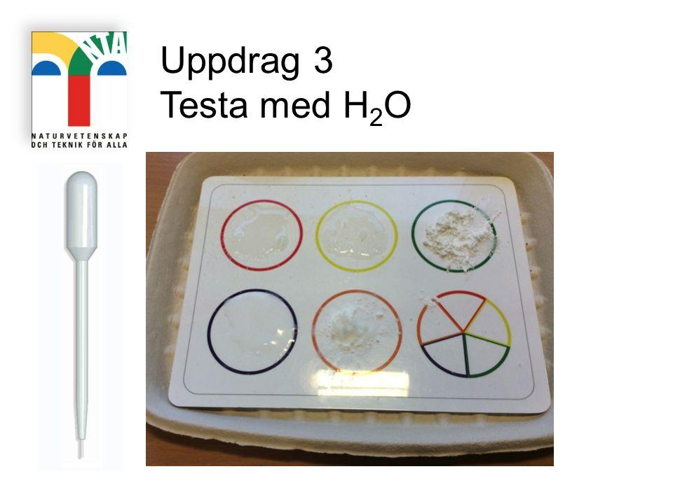 Uppdrag 3 Testa med H2O