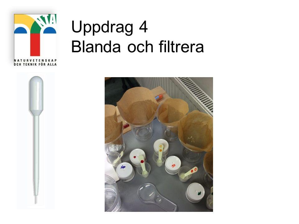 Uppdrag 4 Blanda och filtrera