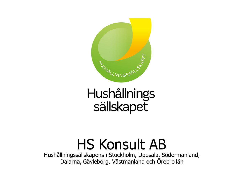 HS Konsult AB Hushållningssällskapens i Stockholm, Uppsala, Södermanland, Dalarna, Gävleborg, Västmanland och Örebro län.