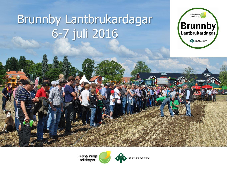 Brunnby Lantbrukardagar 6-7 juli 2016