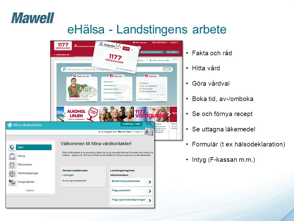 eHälsa - Landstingens arbete
