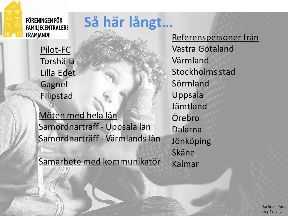 Så här långt… Referenspersoner från Västra Götaland Värmland Pilot-FC